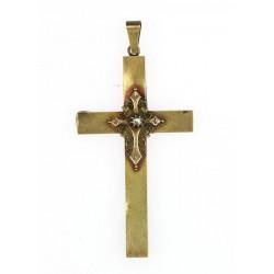 Zlatý kříž s diamantovou...