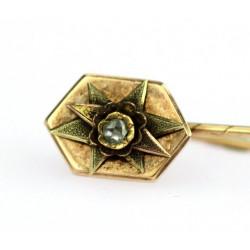 Zlatá jehlice s diamantovou...