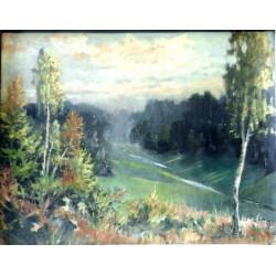 Novotný - Birch tree landscape