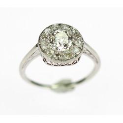 Zlatý diamantový prsten