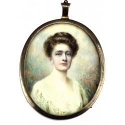 Portrét dámy v bílém