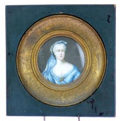 Miniature portrait of a...
