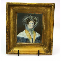 Miniature portrait of an...