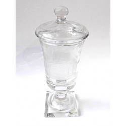 Empírový pohár s víkem