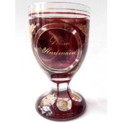 Goblet with red decor