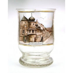 Glass with a painting -...