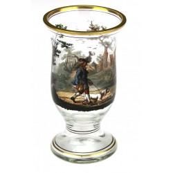 Hunter painted goblet