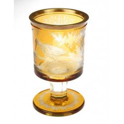 Yellow topaz glass cup