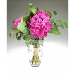 Váza s miniaturou ženského...