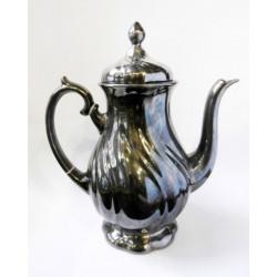 Silver coated porcelain...