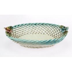 Porcelain basket decorated...