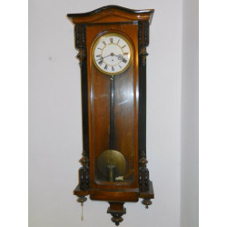 Wooden wall clock, end of...