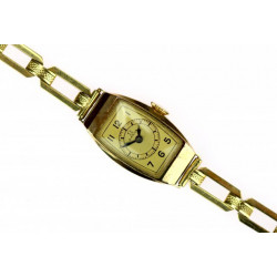 Zlaté náramkové hodinky Omega