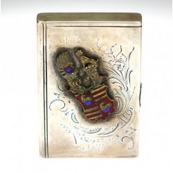 Silver cigarette case...