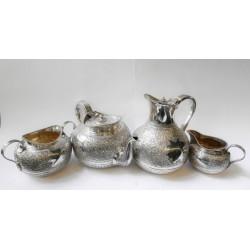 Silver tea and chocolate set