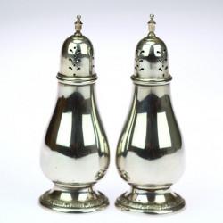Silver salt and pepper shaker set