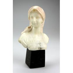 Alabastrová busta ženy s...