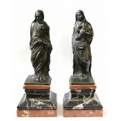 Bronzová socha Marie a Josefa