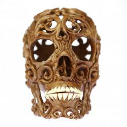 Large wooden skull