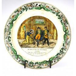 Dekorační talíř - Paříž 1827