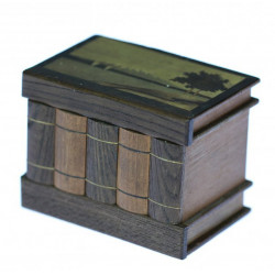Dřevěná krabička s intarzií