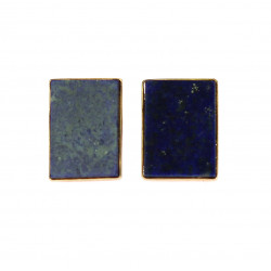 Zlaté náušnice s lapis lazuli