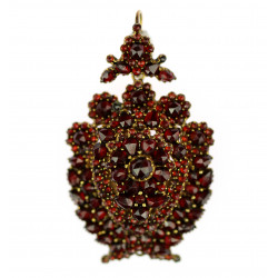 Czech garnet brooch