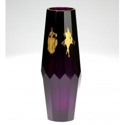 Váza z ametystového skla