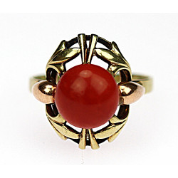 Gold sea coral ring