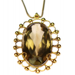 Zlatý náhrdelník se záhnědou