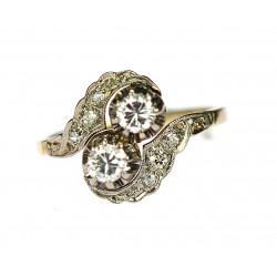 Zlatý briliantový prsten