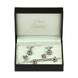 Set of silver cufflinks