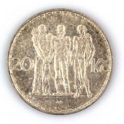 Stříbrná mince - 20Kč...