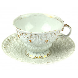 Coffee cup with a saucer -...