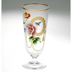 Art Nouveau glass cup