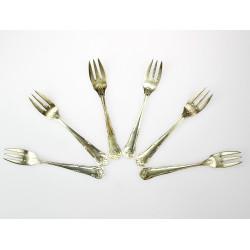 Stříbrné dezertní vidličky...