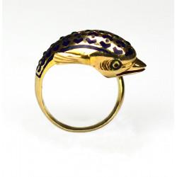 Zlatý prsten delfín zdobený...