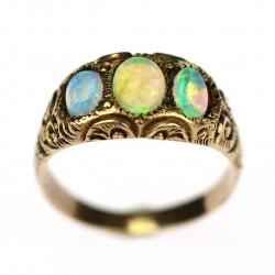 Prodáno - Zlatý prsten s opály