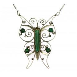 Stříbrný náhrdelník - motýl