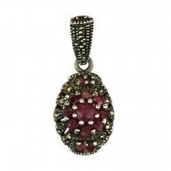 Silver ruby pendant