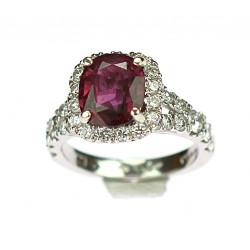 Zlatý prsten s rubínem a...