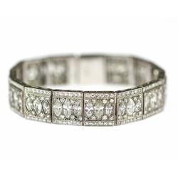 Platinový náramek s diamanty
