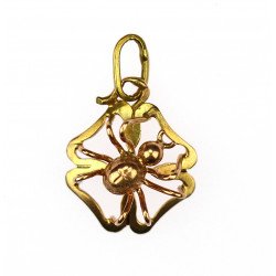 Gold pendant - spider