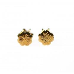 Zlaté náušnice - čtyřlístky