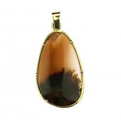 Gold agate pendant