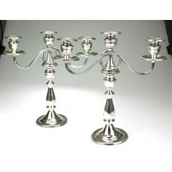Stříbrné párové tříramenné...