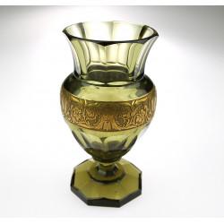 Skleněná váza s oroplastikou