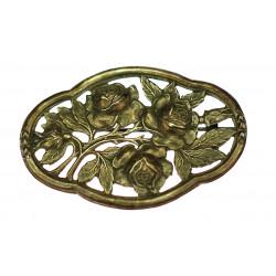 Stříbrná brož - růže