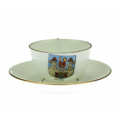 Porcelain cup with saucer...