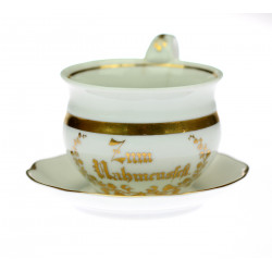 Porcelain cup with saucer -...